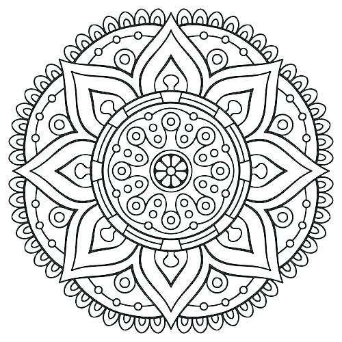 500x500 Free Mandala Coloring Pages Pdf