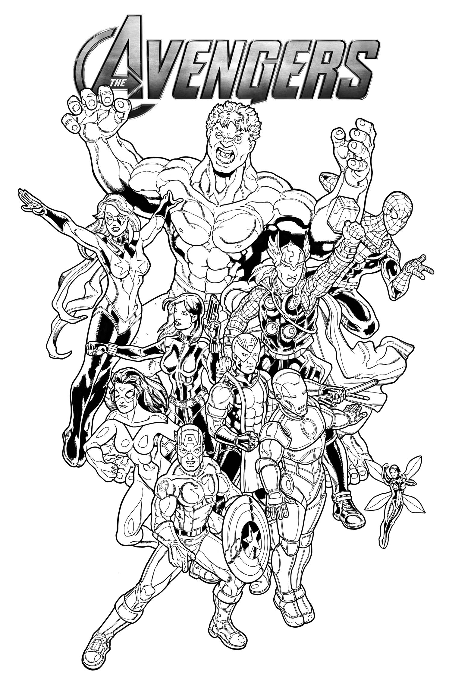 Free Marvel Coloring Pages at GetDrawings.com | Free for ...