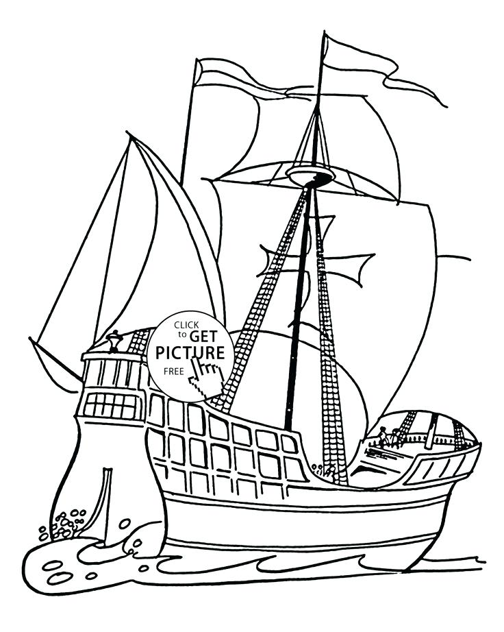 Free Mayflower Coloring Pages At Getdrawings Com Free For