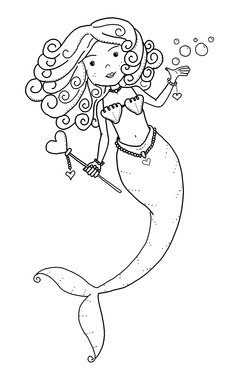 Free Mermaid Coloring Pages at GetDrawings.com   Free for ...
