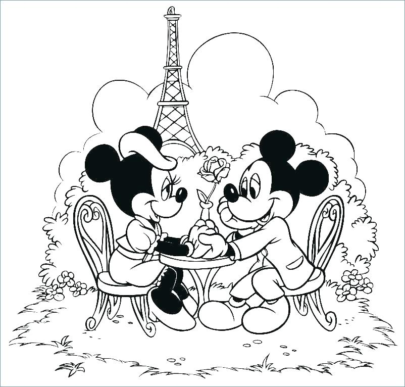 802x766 Mickey Mouse Pluto Coloring Pages Free