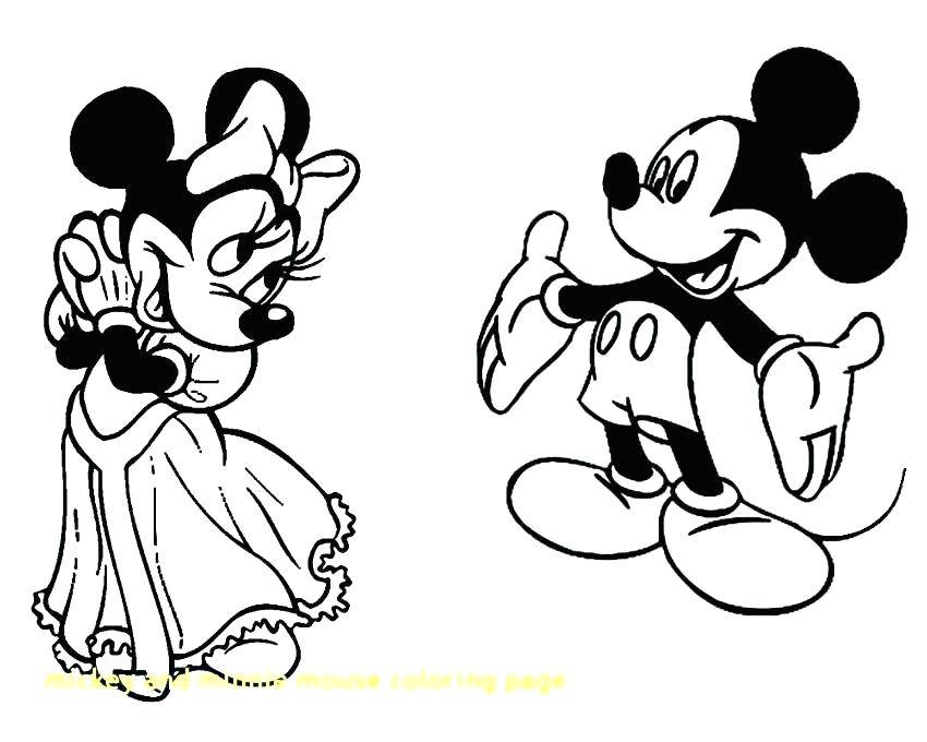 850x680 Free Printable Mouse Coloring Pages Minnie Es Mickey And E