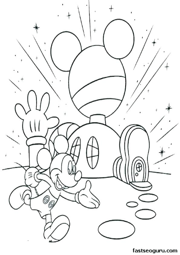 595x842 Mickey Mouse Clubhouse Coloring Book As Well As Free Printable