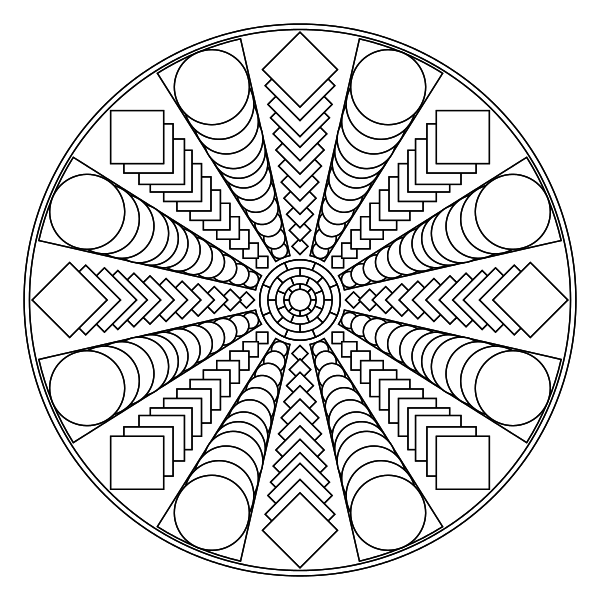 600x600 Free Printable Mandala Coloring Pages Coloring Pages To Help You
