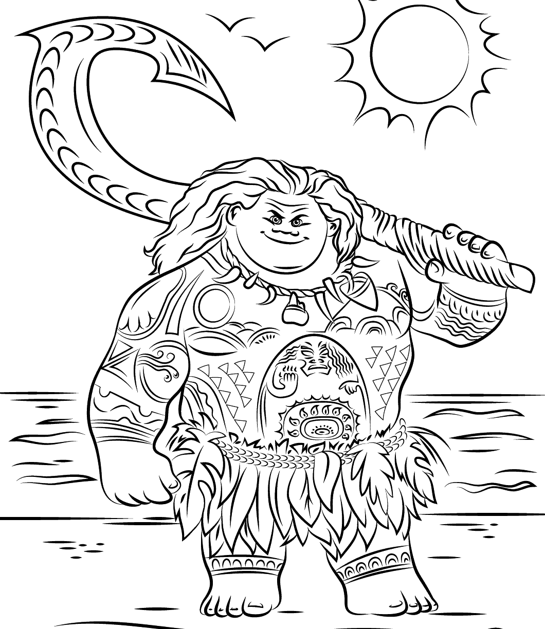 picture regarding Moana Coloring Pages Printable named Cost-free Moana Coloring Internet pages at  Free of charge for