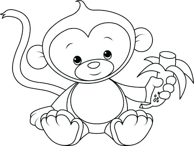 736x556 Free Monkey Coloring Pictures Printable Coloring Monkey Coloring