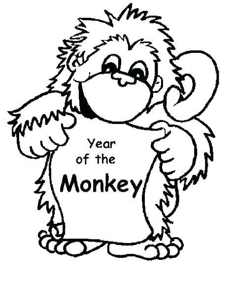 473x583 Monkeys Coloring Pages Little Monkeys Coloring Page Little