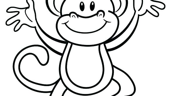 585x329 Printable Monkey Coloring Pages Printable Monkey Coloring Pages