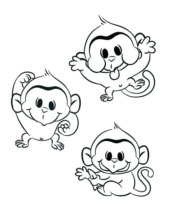 600x750 Sock Monkey Coloring Pages Free Printable Monkey Coloring Pages