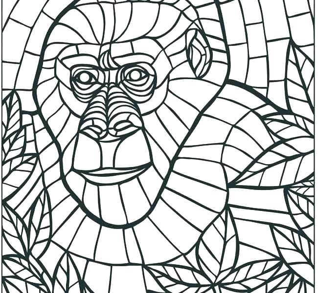 Free Mosaic Coloring Pages At Getdrawings Free Download
