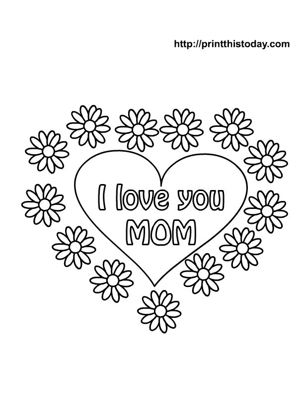 Free Mothers Day Coloring Pages
