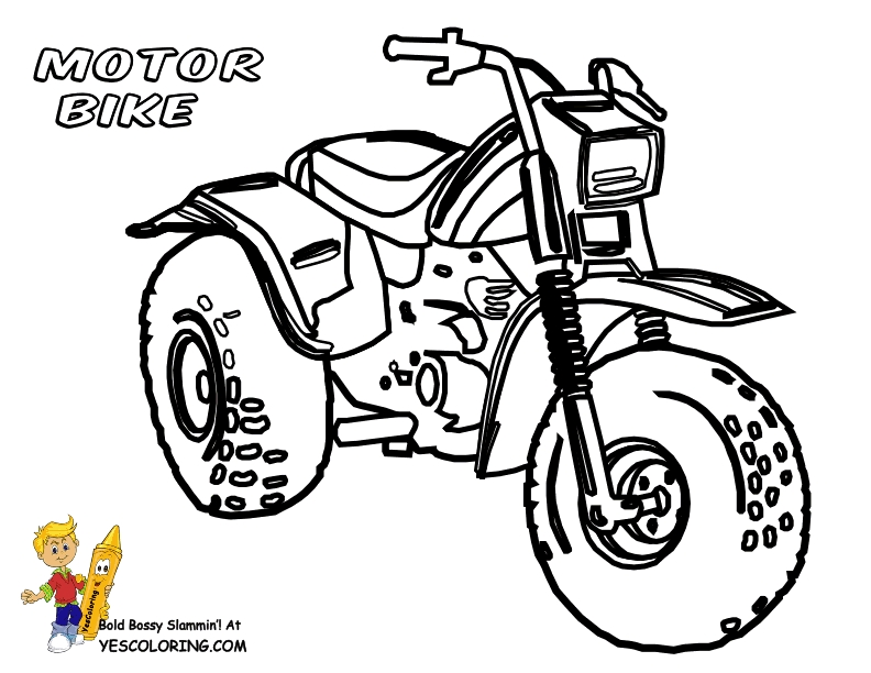 Free Motorcycle Coloring Pages
