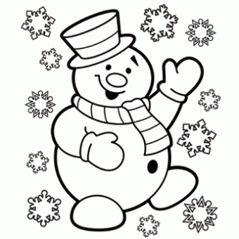 340x340 Snowman Coloring Page