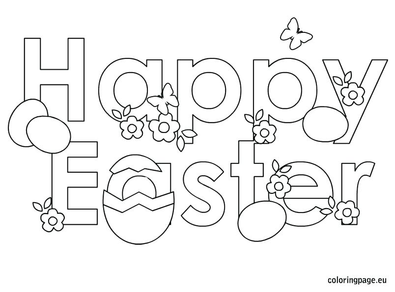 804x595 Easter Coloring Pages Free Happy Eggs Free N Fun From Oriental
