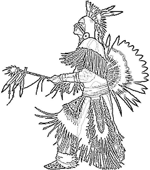 Free Native American Coloring Pages