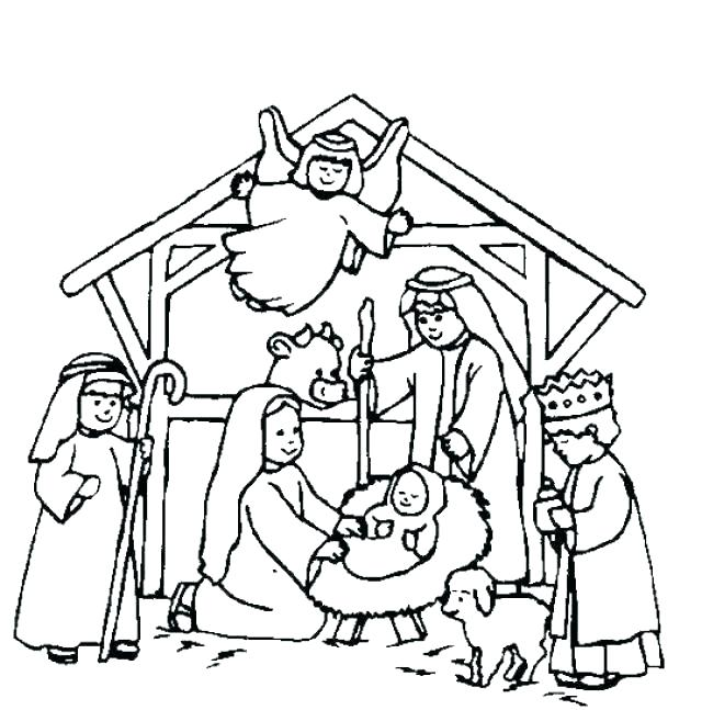 640x647 Coloring Pages Nativity Letter S Coloring Pages Precious Moments