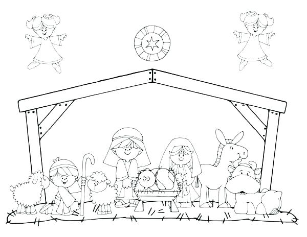 600x464 Nativity Color Page Nativity Color Page Nativity Coloring Page
