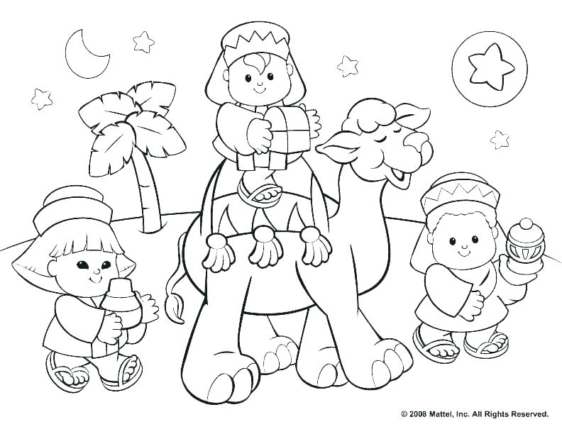 792x612 Nativity Coloring Pages For Preschool Free Nativity Coloring Pages