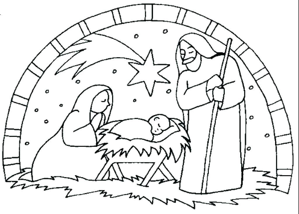 1024x733 Nativity Coloring Pages Nativity Coloring Pages Nativity Coloring