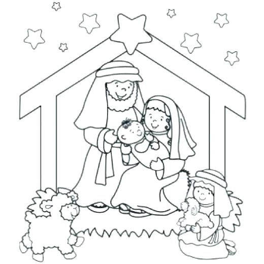 520x520 Nativity Coloring Pages New Free Nativity Coloring Pages For Kids