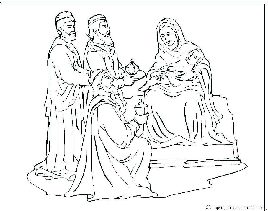 908x715 Free Nativity Coloring Pages