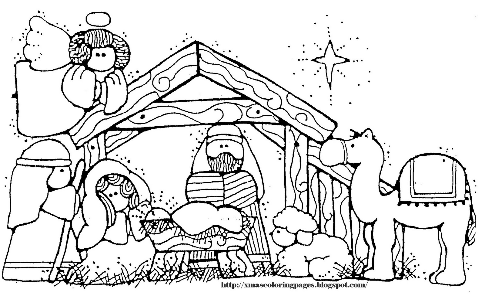 Free Nativity Scene Coloring Pages