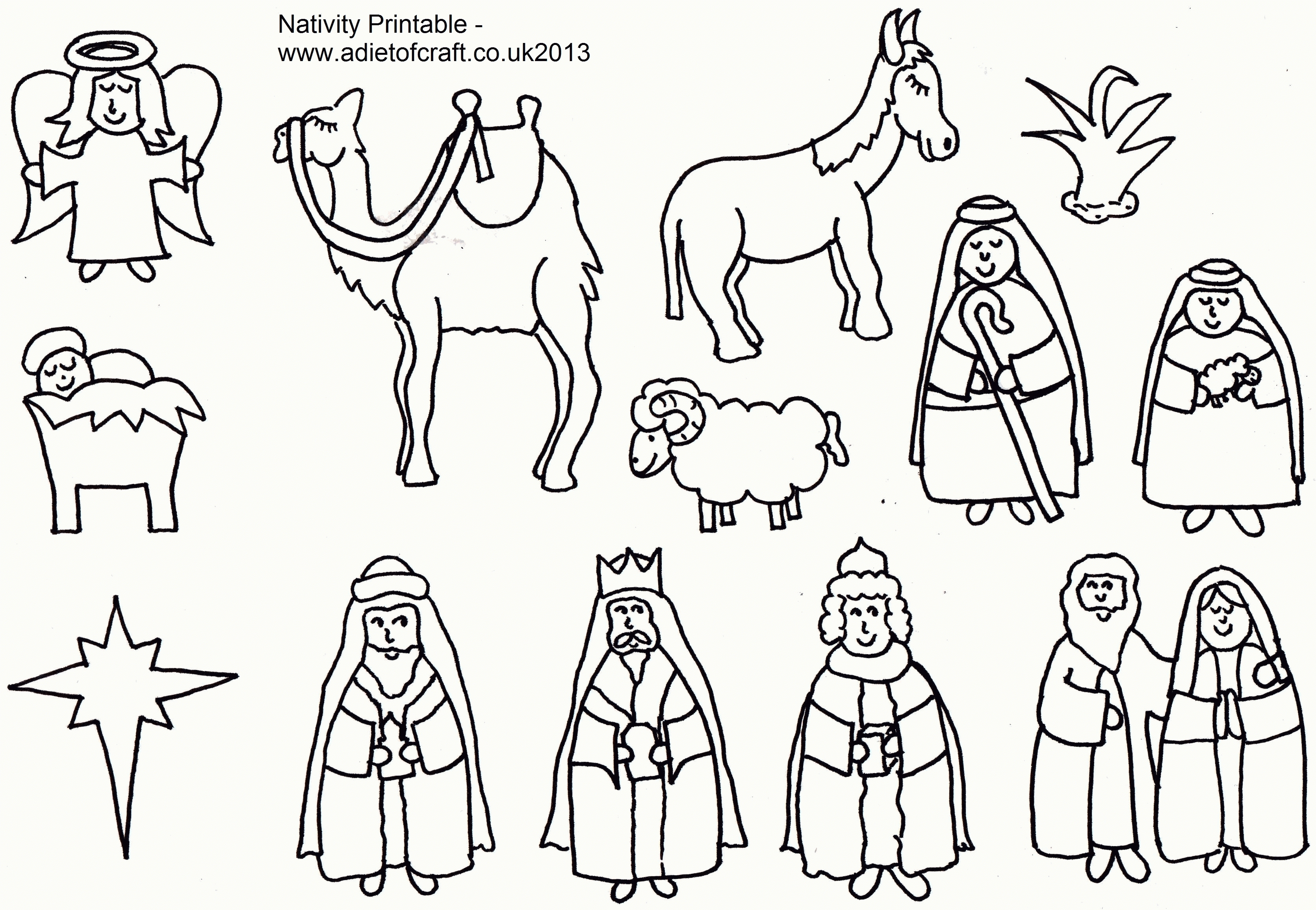 3341x2309 Best Of Free Nativity Scene Coloring Pages Design Free Coloring Book