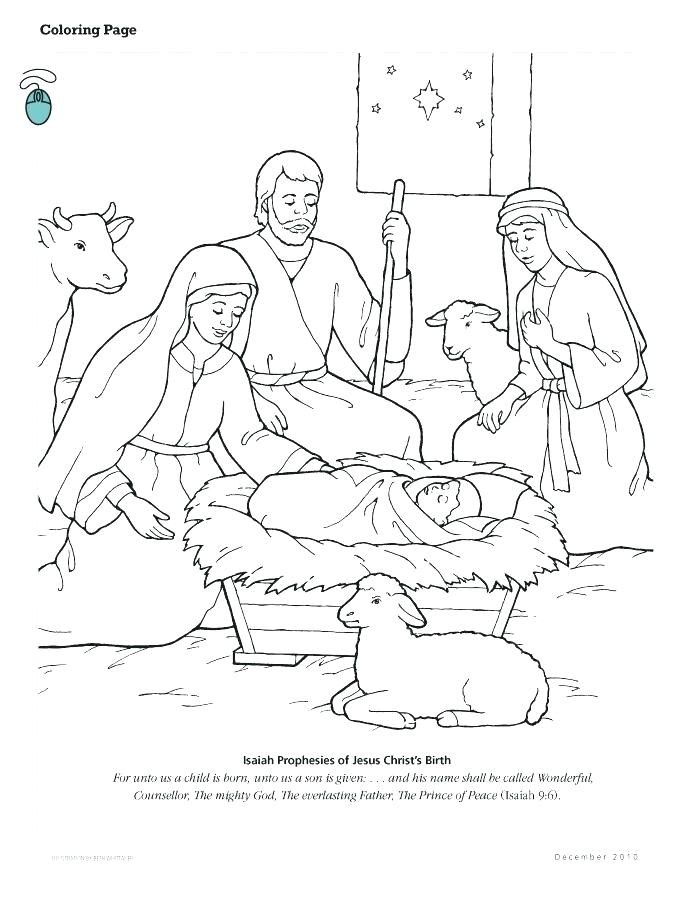 694x902 Coloring Pages Of The Nativity Scene Professional