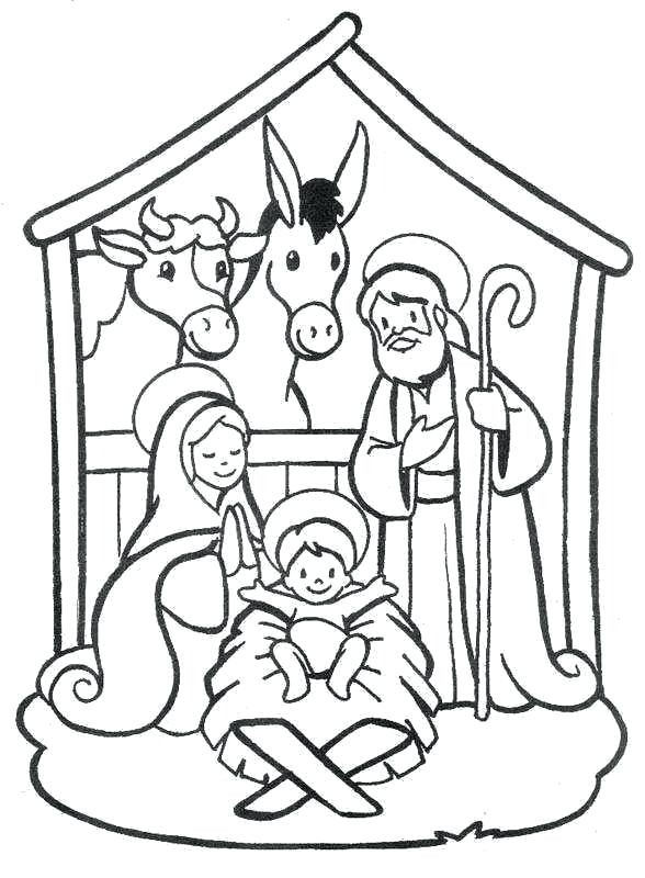 588x800 Free Nativity Coloring Pages For Kids Nativity Scene Coloring