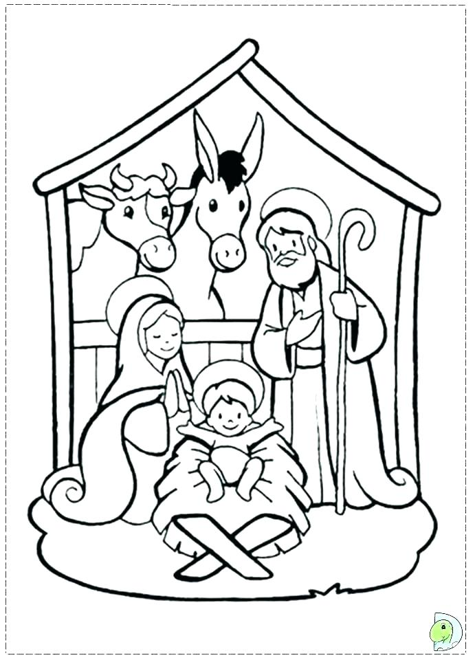 691x960 Manger Coloring Pages Printable Nativity Coloring Pages Free