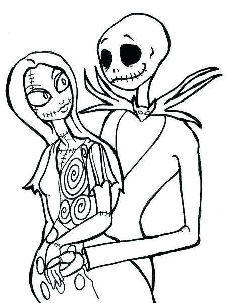 452x600 Nightmare Before Christmas Coloring Pages Free Nightmare Before