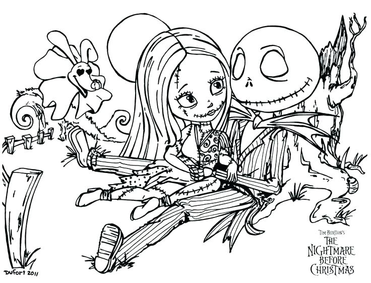 736x561 The Nightmare Before Christmas Coloring Pages Nightmare Before