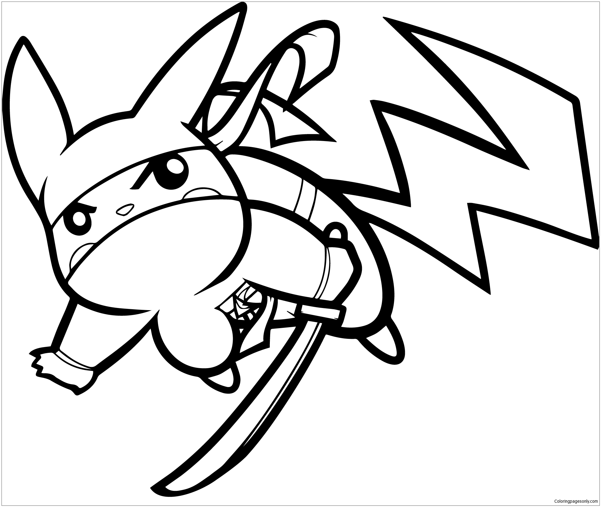 1971x1661 Pikachu Ninja Coloring Page Free Coloring Pages Online Pikachu