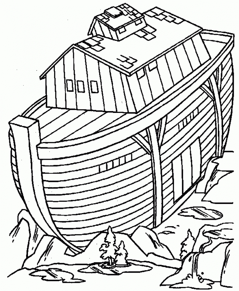 picture about Printable Noah's Ark Coloring Pages named Free of charge Noah Ark Coloring Internet pages at  Totally free for