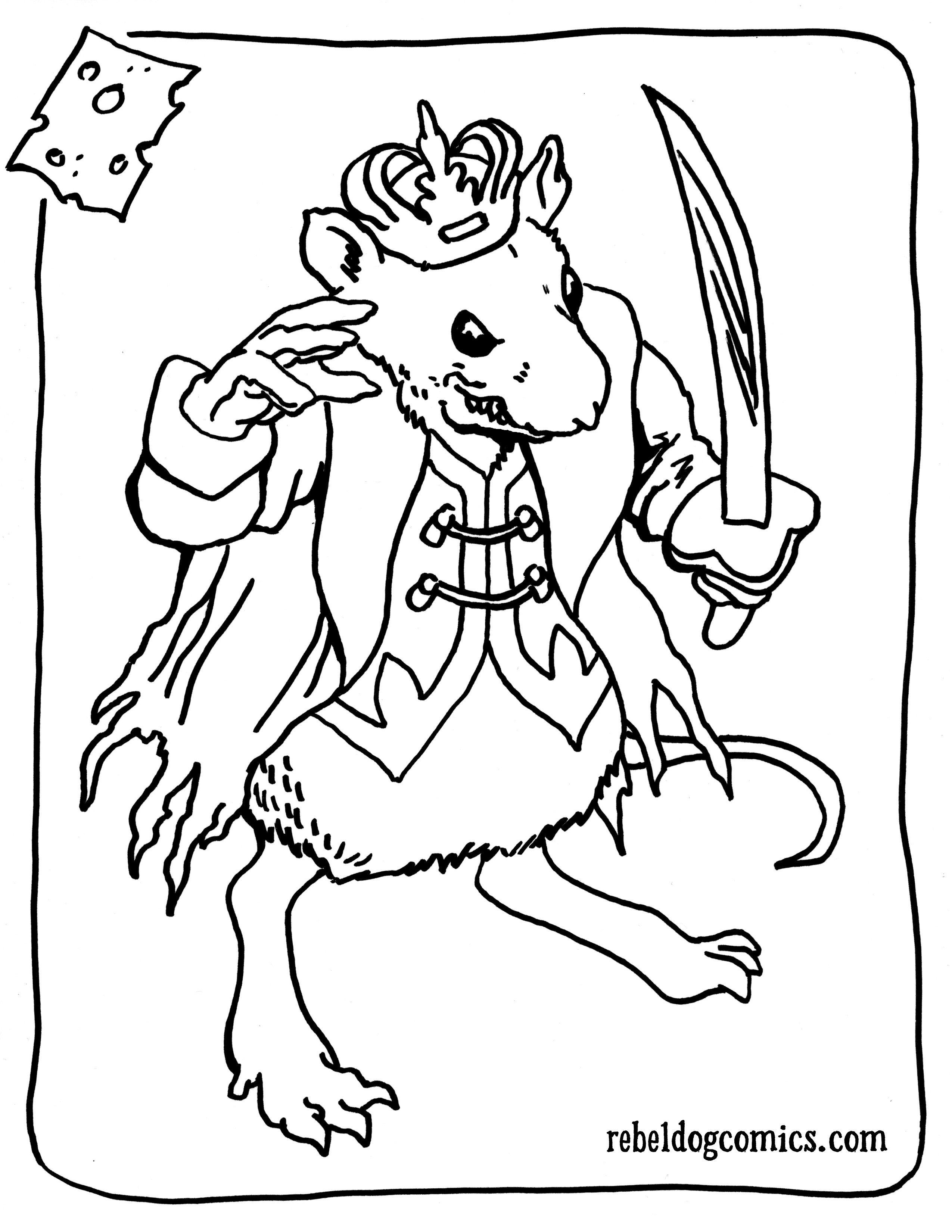 2550x3300 Nutcracker Coloring Pages Lovely Mouse King Nutcracker Sol R
