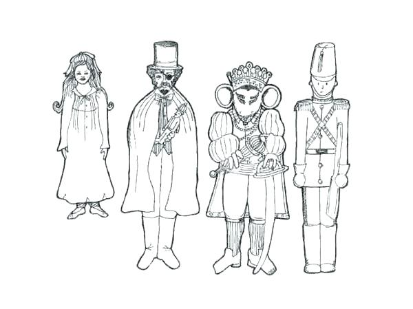 600x449 Nutcracker Soldier Coloring Pages Printable For Kids Easy