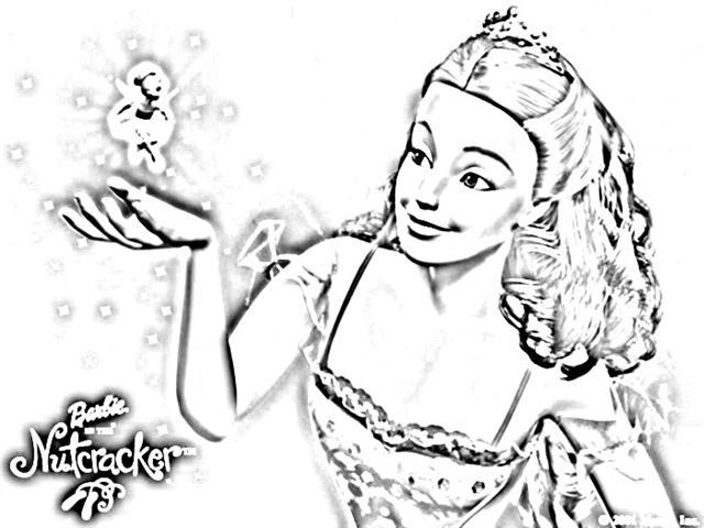 640x480 Barbie Coloring Pages Barbie Nutcracker Coloring Pages Kids