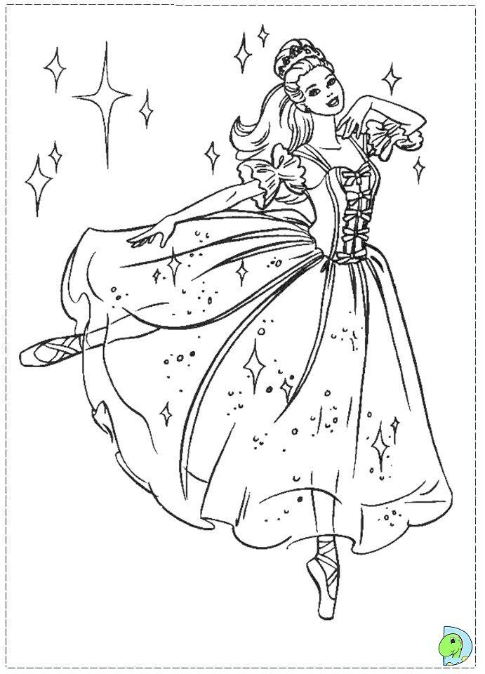 691x960 Barbie Nutcracker Coloring Page