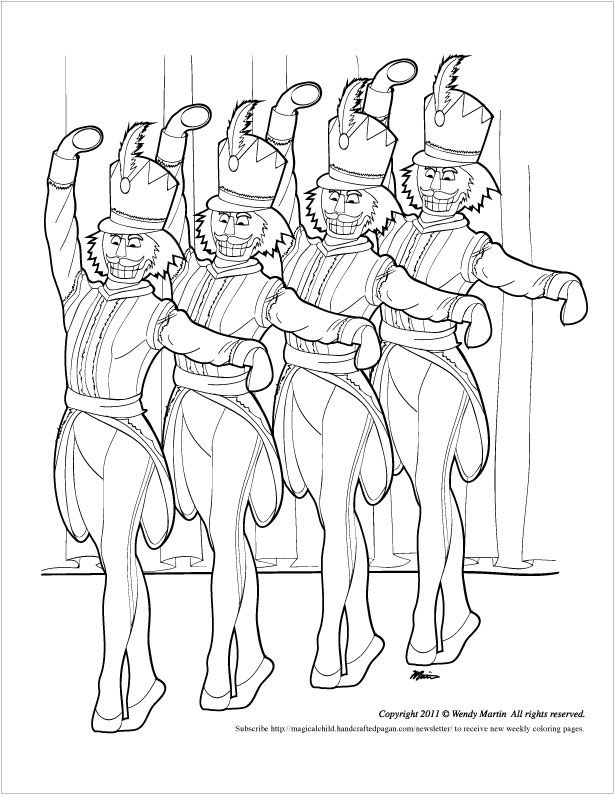 614x794 Nutcracker Ballet Coloring Pages Free