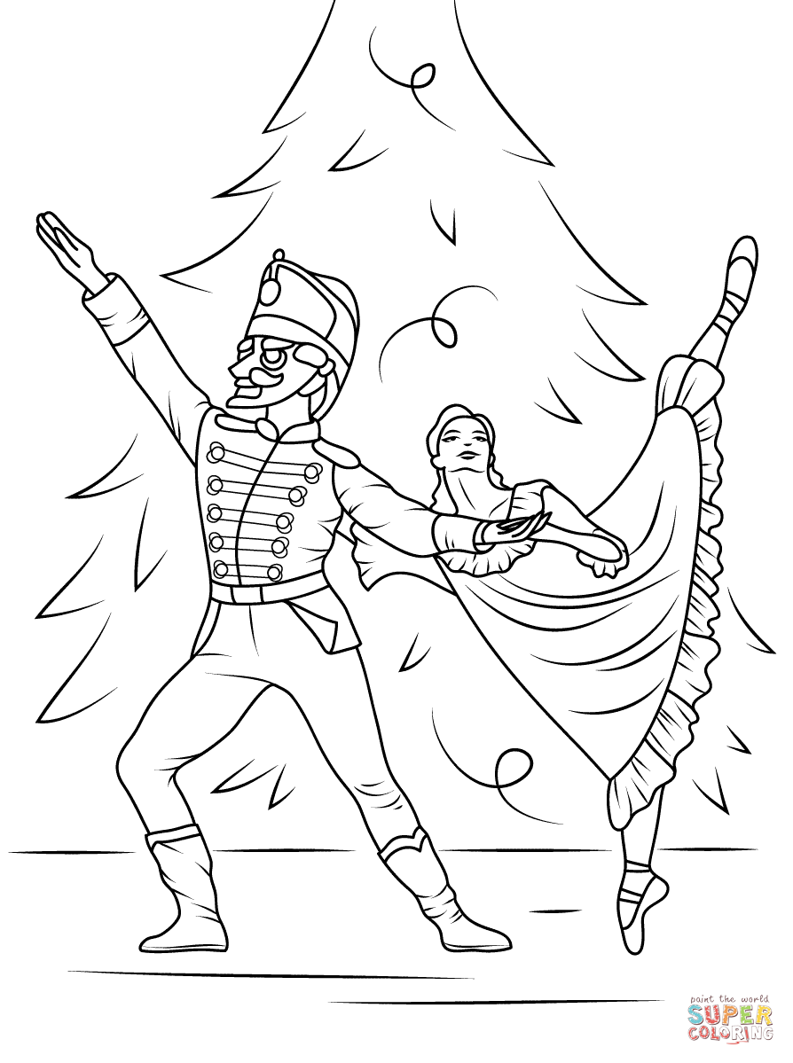 894x1199 Nutcracker Ballet Coloring Page Free Printable Pages