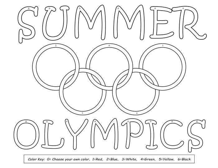 Free Olympic Coloring Pages