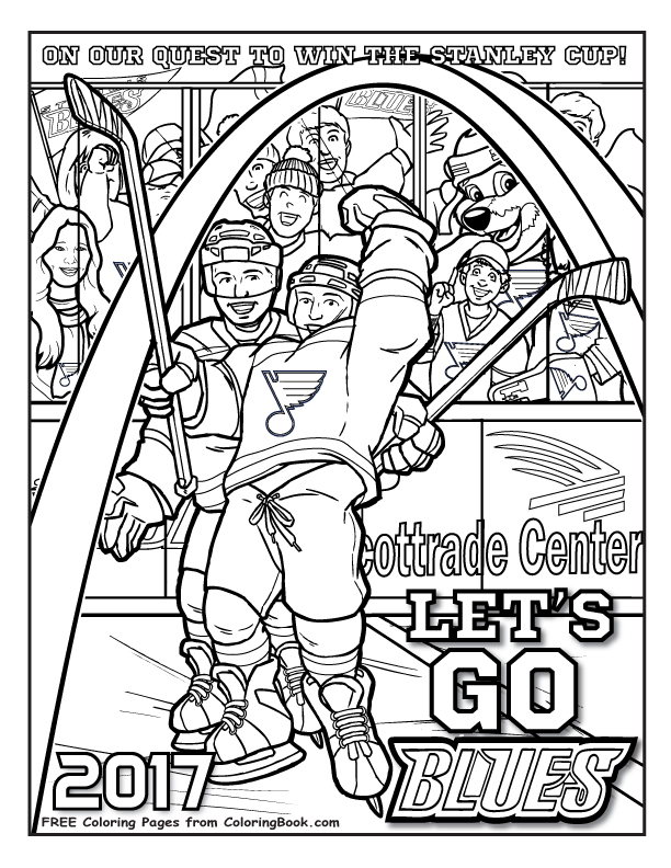 612x792 Coloring Books St Louis Blues Quest For The Cup