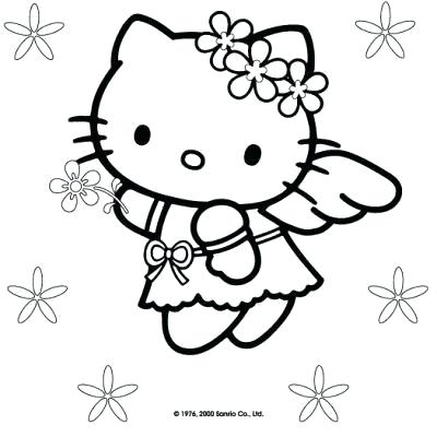 400x400 Hello Kitty Free Coloring Pages Free Hello Kitty Coloring Sheets