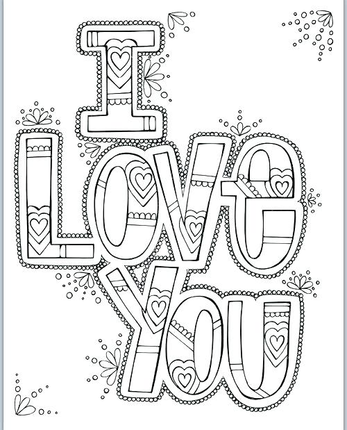 500x619 Love You Coloring Pages Coloring Pages Love I Love You Printable