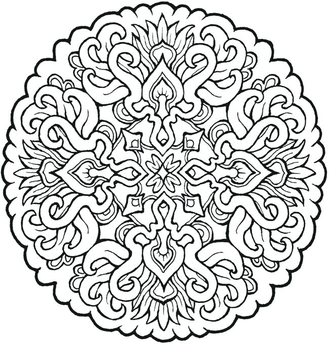 650x682 Abstract Coloring Pages Free Mandala Coloring Pages Free Printable