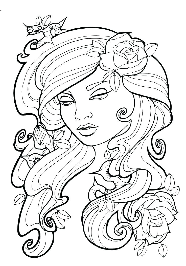 736x1050 Free Coloring Pages For Adults Only
