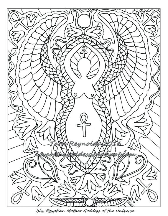570x733 Pagan Coloring Pages Coloring Pages For Adults Goddess Page Pagan