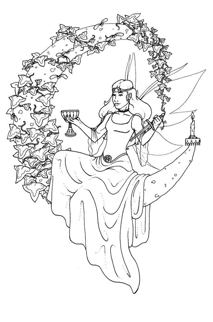 727x1098 Pagan Girl Dancing Coloring Page Free Printable Pages