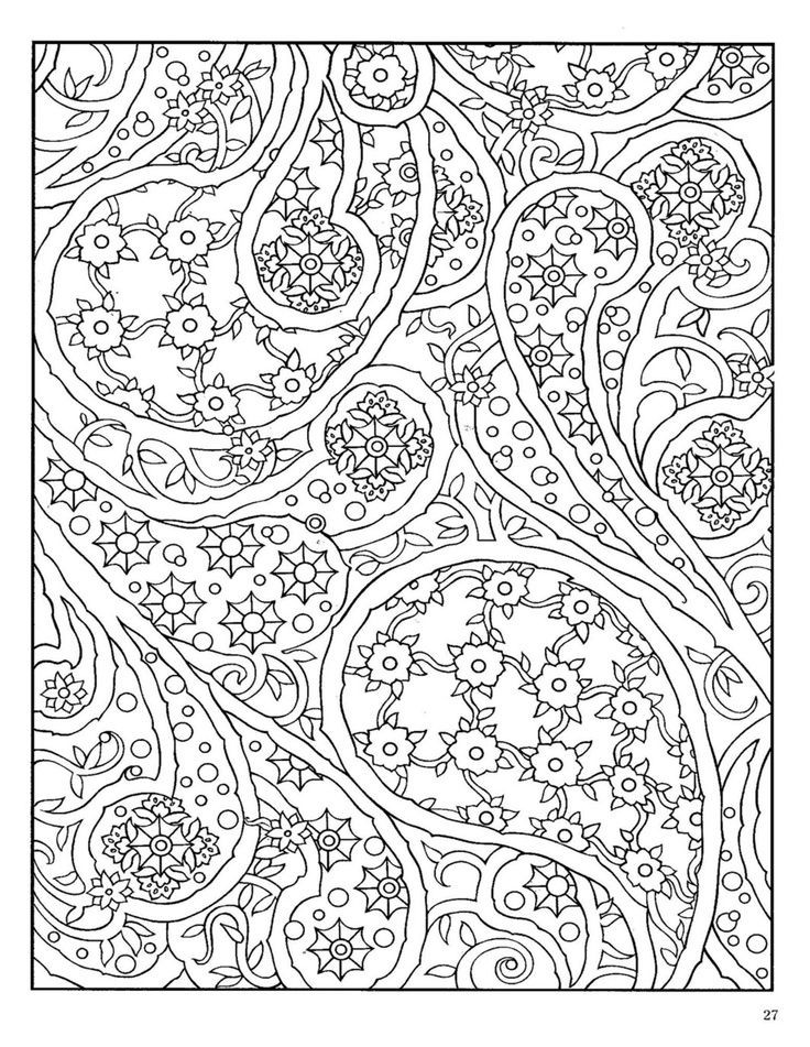 Free Paisley Coloring Pages