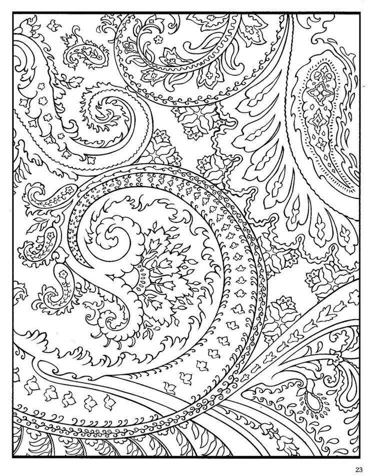 736x951 Paisley Designs Coloring Pages Paisley Colori Color Me Happy